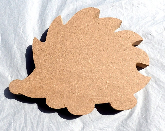 Hedgehog Plaque -  Use as a Base for Mosaics Decoupage or Decorative Painting - Unfinished MDF Small 6 inch Sign