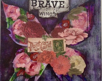 Brave Wings 8x10 Matted Print (Fits In A 11x14 Inch Frame) Made With Archival Inks