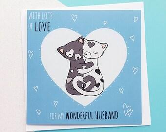 Husband Card, Romantic Husband Card, Husband Anniversary Card, Husband Birthday Card, Perfect Husband, Cute Love Card For Him, Husband Gifts