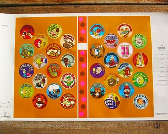 Vintage 70s Baskin Robbins 31 Flavors Ice Cream Book Cover Poster
