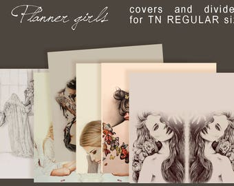 Planner girls .... dividers and covers  TN REGULAR