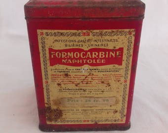 FORMOCARBINE pharmacy box vintage retro french