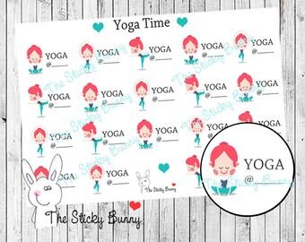 Yoga Time - Planner Stickers for Erin Condren, Happy Planner, Kikkik, Filofax (S012)