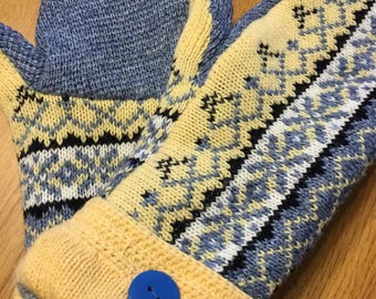 Upscale Sweater Mittens