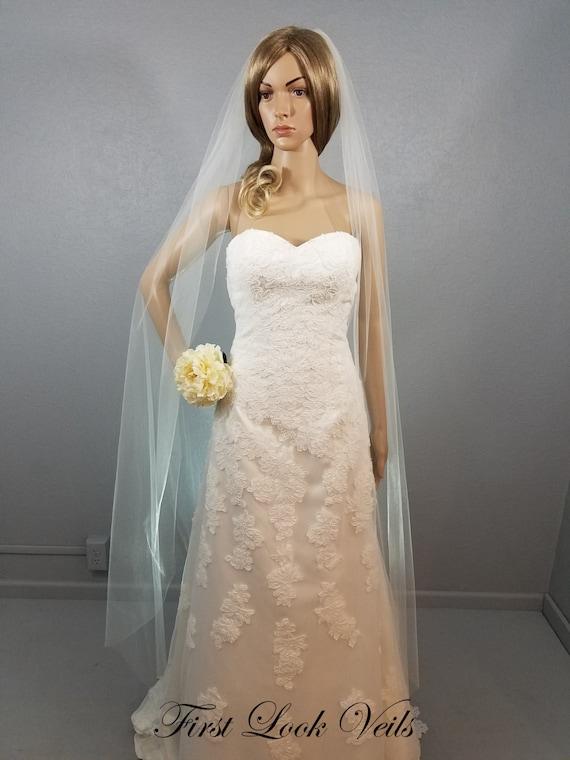 Ivory Wedding Veil, Bridal Ballet Veil, One Layer Plain Viel, Wedding Vail, Bridal Attire, Bridal Accessory, Bridal Accessories, Women, Gift