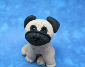 Pug Puppy - Clay Figurine