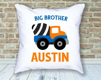 Big Brother / Construction Theme / Bedroom Pillow / Coordinating Big Brother Pillow / Construction Pillow / Bedroom Decor / Construction