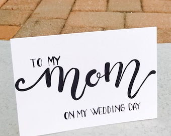 To My Mom on My Wedding Day card and envelope