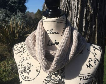 Reversible Putty Striped Cowl