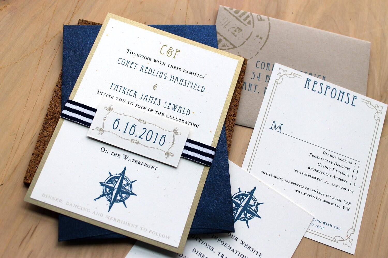 Destination Wedding Invitations Wedding Invitations Nautical