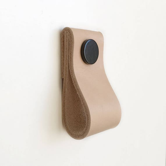 Leather Pulls / Leather Handles / Leather Cabinet Hardware /