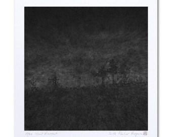 "Black Art, Landscape Print ""Nuit d'argent"" Black Artwork, Landscape Art, Printmaking, Fine Art Giclee Print Art, Limited Edition Prints"