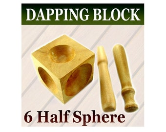 Dapping Block Wood 2 Punch Wooden Doming Block Jewelers WB35