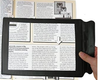 A4 Full Page Magnifier Hands-free 3X Magnifier Handheld Reading Aid Magnifying Glass Lens Perfect Low Vision Aids Large Sheet Magnifying