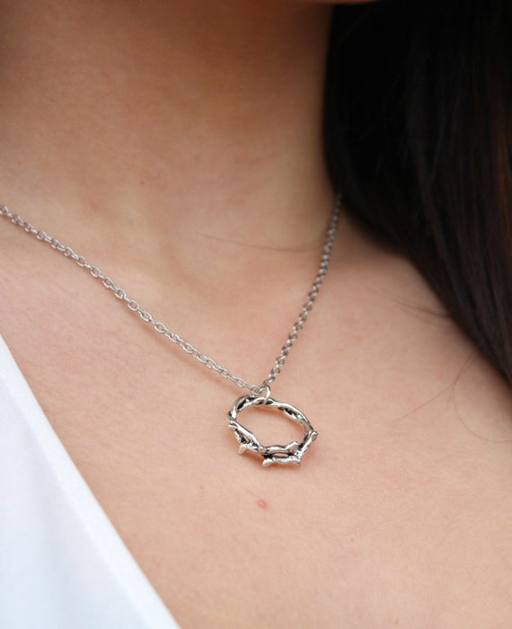 Crown of thorns necklace christian jewelry for women like this item aloadofball Choice Image