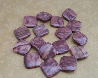 17  Gemstone Beads Brown