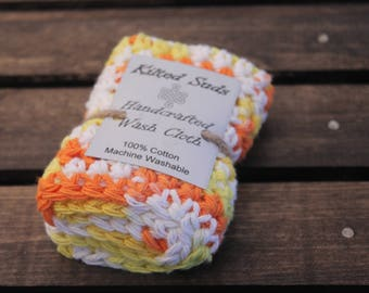 Orange Washcloth   Yellow Washcloth   Cotton Washcloth   Cotton Dishcloth   Yellow Dishcloth   Yellow Facecloth   Spa Accessories   Crochet