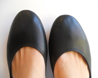 MAYA - Ballet Flats -38- Black Leather-  Available in different colours & sizes