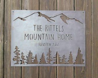 Mountain Home, Custom Metal Sign