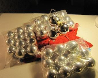Christmas Ornaments, Ball Ornaments, SILVER Ornaments