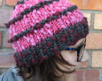 Ready for winter chunky knit play in the snow hat