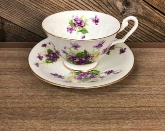 Clarence England Teacup & Saucer