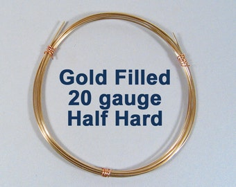 Gold Filled Wire - 20ga HH Half Hard - Choose Your Length