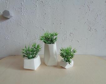 Air Plant Holder, Set of 3, Geometric air plant holders, Mini Vase,
