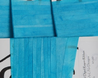 "Hand-dyed Rayon Seam-Binding, Light Aqua, 1/2"", 5yds, Color and Light Fast"