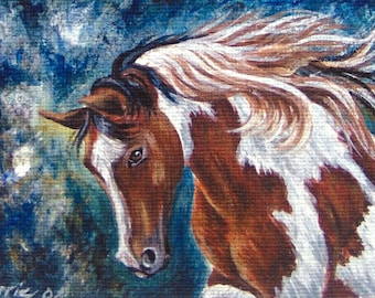 ACEO Horse PRINT Limited Edition signed numbered Glicee