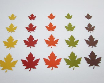 Paper leaf die cuts  Maple leaf cutouts Fall leaves Thanksgiving decoration  Table Decor leaf Die Cut paper leaves
