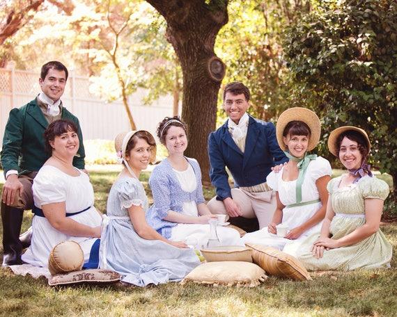 regency dress 1800s picnic