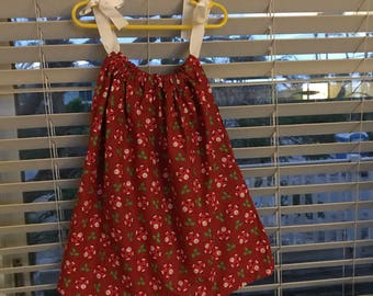 Christmas Dress--Pillowcase/Bandana Dress