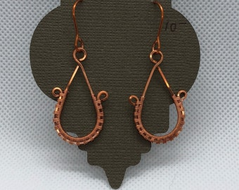 Copper Wire Woven Earrings