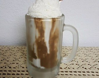 Fake Food Large Root Beer Float Frosted Mug