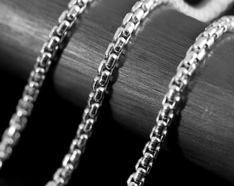 2.6 Rounded Box Chain Argentium Sterling Silver