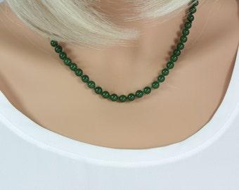 Jade Jewelry, Jade Necklace in Handmade, Jade Necklace, Nephrite Jade Necklace, Wedding Necklace, Brides Necklace, Bridesmaid Necklace, Gift