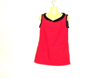 Red Tops,Red Vests,Vest Tops,Womens Vests, Womens Tops, Size 10, Size 8, By Rebeccas Clothes