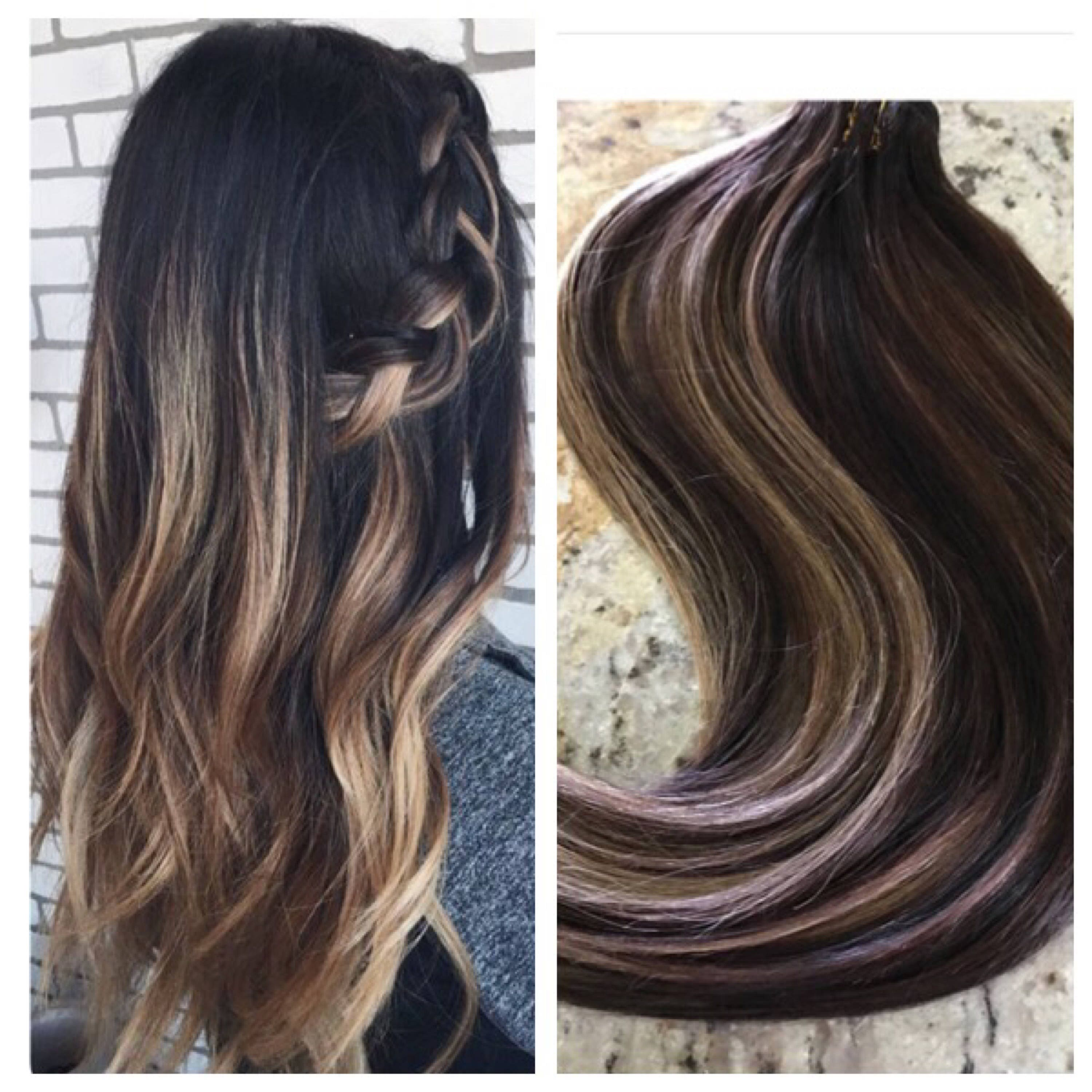 5 Star Ombre Balayage Cuticle Remy Human Hair Sew In Machine Weft