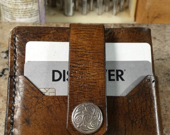 Handmade front pocket/ concert wallet