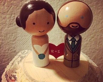 Cute Wedding Topper -Customization Available