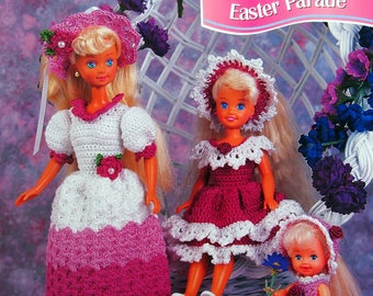 Easter Parade By Juanita Turner And Annie's Fashion Doll Crochet Club Vintage Crochet Pattern Pattern Leaflet 1995