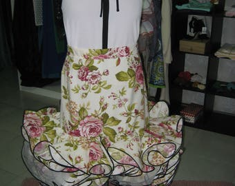 Blouse and skirts set with ruffles