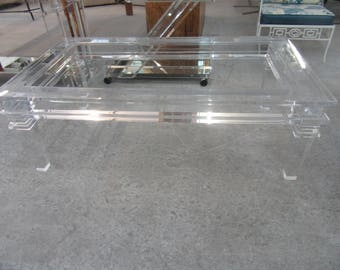Glam Modern Lucite Coffee Table