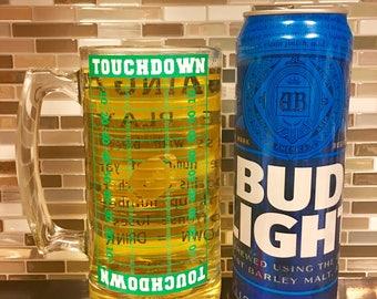 The Gain Game Football Stein - stein - football - deinking game - gain game - beer - mug