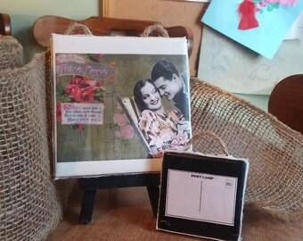 Travel Coasters Vintage Coasters Travel Theme Favors Personalized Coasters Wedding Coasters Custom Coasters Ceramic Coasters Custom Favors