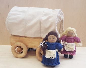 Knitted Doll Pattern, Little House on the Prairie Inspired, Doll Knitting Pattern, Waldorf Doll Tutorial, Instant Download