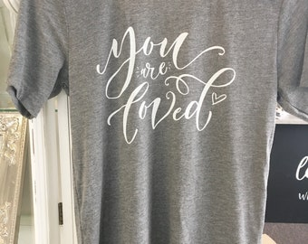 You Are Loved tshirt or pillow for Mental Health and Suicide Awareness