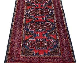 Cute Afghan tribal baluchi rug / hand knotted rug