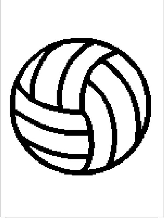 INSTANT DOWNLOAD Volleyball afghan crochet cross stitch